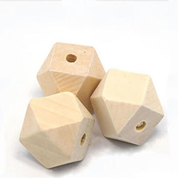 $enCountryForm.capitalKeyWord UK - 50pcs 10 12 14 16 18 20 25 30mm Natural Unfinished Geometric Wood Beads for Jewelry Making DIY Woden Spacer Bead Craft Material