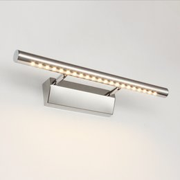 40cm 55cm 5W 7W Bathroom LED Mirror Light AC85 265V SMD5050 Stainless Steel Dressing  Table Sconces LED Wall Lamps With Switch