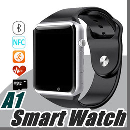 Bluetooth Smart Watch Sim Australia - DHL Smart Watch Bluetooth DZ09 GT08 U8 M26 V8 Q50 Touch Screen Smartwatch Support SIM TF Card Smart Watches for Smartphone with Package F-BS