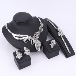 $enCountryForm.capitalKeyWord Canada - Nigerian African Beads Jewelry Sets Collar Pendant Necklace Earrings Painting Imitated Crystal Wedding Bridal Pendant Accessories