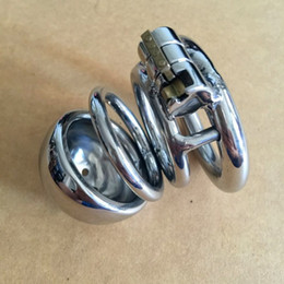 Smallest Male Steel Chastity Canada - Small Male Chastity Device Stainless Steel Cock Cage BDSM New Sex Toys Bondage Chastity Belt 2015 Latest Design