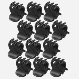 black hair claw clip NZ - 12 pcs sets Fashion Women crab Hair claw clip Girls Black Plastic Mini Hairpin Claws Hair Clip Clamp For Women Gifts