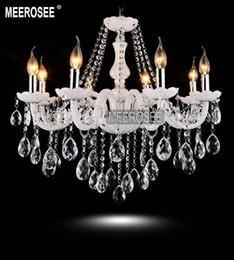 8 lights Modern White Crystal Chandelier Light Elegant Cristal Lustres  Premium Quality Light Fixtures Fast Shipping MD801 elegant modern crystal  chandelier ...