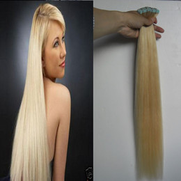 Platinum Product Canada - Platinum Blonde Tape Hair Extensions 100g 40Pcs lot Blonde Brazilian Virgin Hair Remy Skin Weft Tape Adhesive Hair Extensions Products