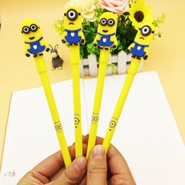 $enCountryForm.capitalKeyWord Canada - Cute Minions Despicable Me Pen Cartoon Writing Gel Pen For Children Kids Toy School Office Stationery Free DHL