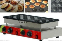 Electric Pancake Machine Canada - 50pcs Commercial Electric Poffertje Mini Dutch Pancake Machine Maker Iron Baker