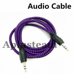 $enCountryForm.capitalKeyWord Australia - High Quality 3.5mm Braided AUX Audio Cable Woven 1.5M Auxiliary Stereo Jack Male Car Colorful Cord for iphone 6s Samsung S7 S6 Speaker MP3