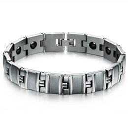 $enCountryForm.capitalKeyWord Canada - WPY JEWELRY New fashion jewelry Charm men energy bracelet Stainless steel anti-allergy male Magnetic stone health bangles GS3380