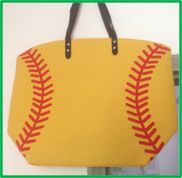 $enCountryForm.capitalKeyWord Canada - Wholesale Blanks Cotton Canvas baseball Totes Softball Patch work Tote and Magnetic Snap Closure Free Shipping
