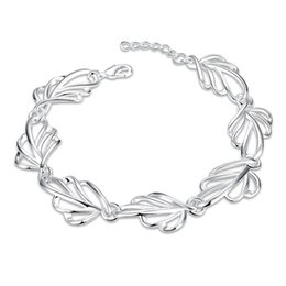 fishing hooks brands UK - Hot sale christmas gift 925 Hollow leaves bracelet CH425, Brand new fashion 925 sterling silver plated Chain link bracelets high grade