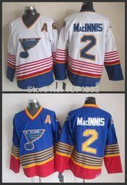 al macinnis 2018 - New st.louis blues jersey #2 Al Macinnis 1995-1998 Home & Away Jerseys White blue Embroidery Logos stitched S-3XL cheap