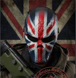 Airsoft fields online shopping - UK Knight Tactical Airsoft Paintball Mask Outdoor Field Game Full Face Protective Safe Metal Eye Mesh Mask skull Party Mask