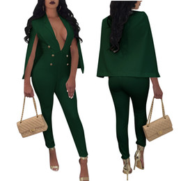 $enCountryForm.capitalKeyWord Australia - Womens Sexy Deep V-neck Cloak Jumpsuits Rompers For Female Plus Size Fashion One Piece Pants Jumpsuit XXXL Drop Shipping