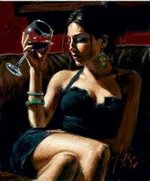 $enCountryForm.capitalKeyWord Canada - Framed DRINK WINE BEAUTY,Pure Handpainted Portrait Art Oil Painting On High Quality Canvas Multi Sizes Free Shipping