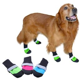7046e3f4ab0b Europe And The United States Hot Medium Large Dog Shoes Super Abrasion  Resistance Oxford Cloth Pet Shoes Waterproof Non Slip Thermal Insul
