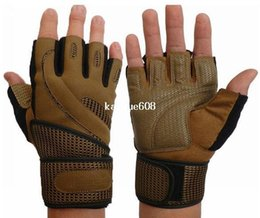 $enCountryForm.capitalKeyWord Canada - New leather Fitness gloves sports gym gloves half finger Non-slip long Wrist protection Mesh breathable