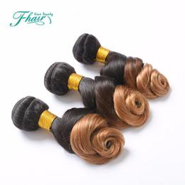 Dip Dye brazilian hair online shopping - 8A Brazilian Ombre Human Hair Extension Loose Wave Wavy Hair Weaves Dip DyeT B Color Ombre Human Hair