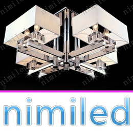 rectangular ceiling lights 2019 - nimi722 Minimalist Living Room Ceiling Lamp Atmospheric LED Crystal Chandelier Bedroom Restaurant Rectangular Lamps Pend