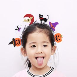 $enCountryForm.capitalKeyWord Canada - Halloween Dress Up Girls Tridimensional Witch Hat Hairpins Solid Kawaii Glitter Ghost Bat Pumpkin Cat Hallowmas Hair Clips Party Head Ware