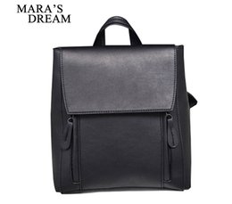 Girls dream dress online shopping - Mara s Dream Preppy Style Women Backpack Female School Bags High Quality PU Leather Solid Backpacks for Teenagers Girls