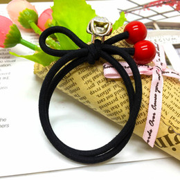 $enCountryForm.capitalKeyWord NZ - Fashionable for girls simple style black high quality cherry shape hair jewelry pony tails holder for girls