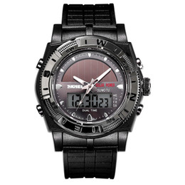 China Cheap SKMEI Luxury Brand Men Watch 50m Dive Digital LED Quartz Outdoor Sports Watches Military Masculino Solar Wristwatch For Mens suppliers