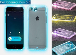 explosion proof phone NZ - 2015 Fashion Phone Case For iPhone 6 plus 5.5 Inch 10 Patterns TPU + Silicone + tempered glass explosion-proof Protection Cases Free DHL