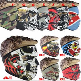 $enCountryForm.capitalKeyWord NZ - Neoprene Full Skull Face Mask Halloween costume party face mask Motorbike Bike Ski Snowboard Sports Balaclava