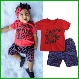 $enCountryForm.capitalKeyWord Canada - new arrival tyfactory 2016 baby girls clothing suits red short sleeve t-shirts letters printed blue floral pants fashion style free shipping