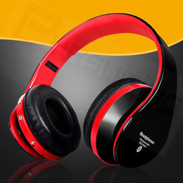 Wireless Radio Headphone Canada - HiFi Deep Bass Wireless Stereo Bluetooth Headphone Noise Cancelling Headset With Mic Support TF Card FM Radio