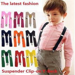 $enCountryForm.capitalKeyWord Canada - 300 pcs Wholesale Children Clip-on Adjustable Elastic Pants Y-back Suspender Braces Belt children Black BOYS GIRLS Suspender 0382