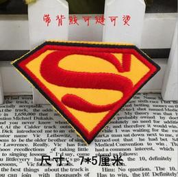 $enCountryForm.capitalKeyWord Australia - HOT SALE! 2.8 inch cloth Heat Transfer Superman Super man Embroidered Brands logo DIY Iron-on Patches Sew On Patch Applique Badge GP-025