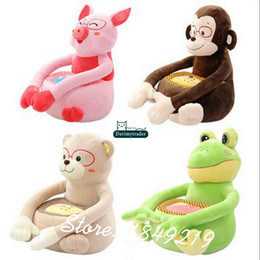 $enCountryForm.capitalKeyWord Canada - Dorimytrader 60cm X 45cm X 45cm Animal Kids Sofa Giant Plush Pig Bear Monkey Frog Lazy Toy Nice Baby Gift Free Shipping DY61092