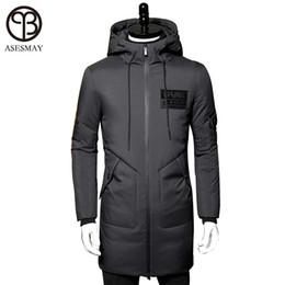 84a2067423af Asesmay 2017 Winter Down Jacket Men Coat Hooded Long White Duck Down Parka  Thickening Warm Outwear Wellensteyn Men Winter Jacket