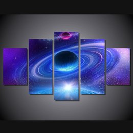 $enCountryForm.capitalKeyWord Canada - 5 Pcs Set Framed Printed Planet with rings Painting Canvas Print room decor print poster picture canvas Free shipping ny-4961