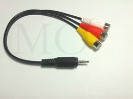 rca stereos Australia - 10PCSX Audio Video Joint connector Cable 2.5mm Stereo 4 Pole Plug to 3 RCA Female