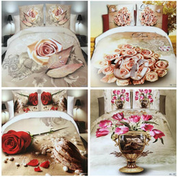 $enCountryForm.capitalKeyWord Canada - 3D Flowers Reactive printing cotton 4 pcs bedding set duvet quilt cover bed sheet Pillowcase bedclothes Home Textiles AS102