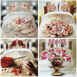 $enCountryForm.capitalKeyWord NZ - 3D Flowers Reactive printing cotton 4 pcs bedding set duvet quilt cover bed sheet Pillowcase bedclothes Home Textiles AS102