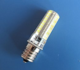 $enCountryForm.capitalKeyWord Australia - Pack of 10, E17 C9 80-2835 SMD Warm   White LED Silicone Crystal Bulb Chandelier Candle Light Microwave Oven fridge Lamp 6W AC 110V 220V