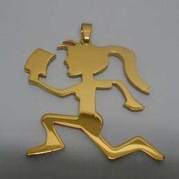 "hatchetman chain 2019 - Twiztid Juggelette ICP Music HATCHETMAN Stainless Steel Pendant 2 IN tall golden charm w 30"" NECKLACE Chain"