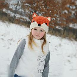 $enCountryForm.capitalKeyWord Canada - 2016 Baby Hats Caps Cat Ear   Fox Shaped Kids Bomber Hats Beanie Shawl Winter Children Hats Handmade Knitted Baby Accessories HJIA902