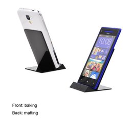 China 20pcs L shaped Plastic Colorful Mobile Phone Display Holder Cellphone Exhibit Stand for retail Store exhibition Mounts suppliers