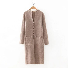 $enCountryForm.capitalKeyWord Canada - Women Autumn Fashion Casual Sweater Cashmere Single Breasted Long Cardigan High Quality Winter Women Sweater Pull
