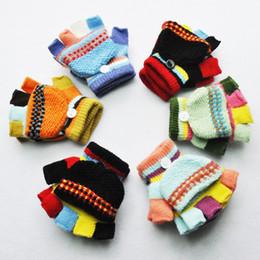 $enCountryForm.capitalKeyWord NZ - 5-15 years New Arrival 2017 Winter Children Gloves Warm Baby Boys Girls Mittens Kids Knitted Patchwork Thicken Gloves