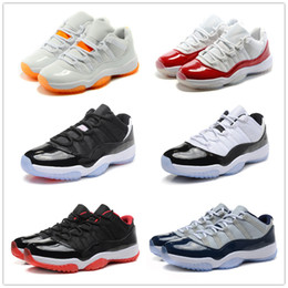Good quality basketball shoes online shopping - 11s classic Basketball Shoes low red navy blue GS Citrus infrared concord Good Quality Version sizes US5