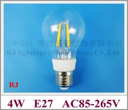 BuBBle Ball BulB lamp online shopping - New product high bright energy saving degree lighting angle filament LED bubble ball bulb light lamp E27 W lm AC85 V