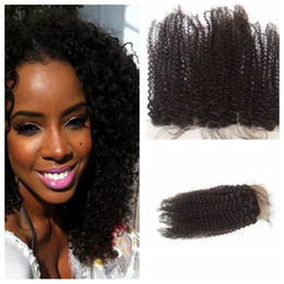 Free way curly part online shopping - Human Hair Brazilian Hair Closure Lace Closure Kinky Curly Front x4 Middle Way Part Bleached Knots Kinky Curl Top Closure G EASY Hair