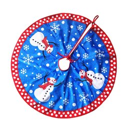 80cm Christmas Tree Skirt Blue Snowman Snowflake Xmas Oranments Supplies High Quality Flannel Polyester Affordable Skirts