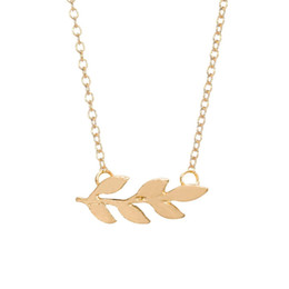 $enCountryForm.capitalKeyWord Canada - Wholesale High Quality Bohemian Gold Silver Plated Organic Laurel Tree Leaf Necklace Leaves Pendant Necklace Plant Fashion Jewelry