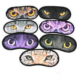 Barato Olhos Bonitos Do Remendo Do Sono-Hot Cartoon meow star eyeshade 3D Viagem sono máscara de olho bonito animal gato sono repouso resto Máscara de olho Shade Nap Cover Blindfold Shade